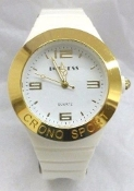 Ladies' Crono Sport  Watch with White Band