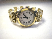 Elegance Talking Watch W/Alarm Gold/ Silver Tone White Face