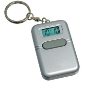 Talking Alarm Clock with LCD Screen and Keychain (Silver)