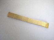 16mm Gold Tone Expansion Watch Band with Taper Ends