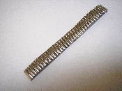 16mm Silver Tone Expansion Watch Band with Straight Ends