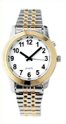 Women's Talking Watch Two Tone White Face 1 Btn. (Time Only)