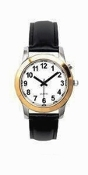 Men's Talking Watch Two Tone White Face 1 Btn. (Time Only)