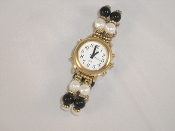 Spanish!Talking Lady's Watch Gold Tone White Face with Alarm