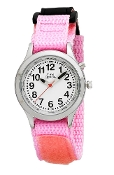 Youth (Kids) Talking Watch with Pink Velcro Strap