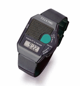 Talking Alarm Watch  with Large Green Talk Button Easy to See