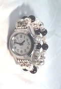 Elegance Talking Watch Silver Tone-Beaded Band